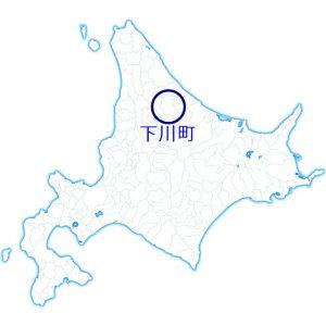 北海道下川町の地図